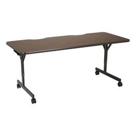 """Computer Table w/ HPL Top & T-Legs (72\"""" W x 30\"""" D) - Walnut"""