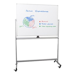 Double-Sided Mobile Magnetic Markerboard
