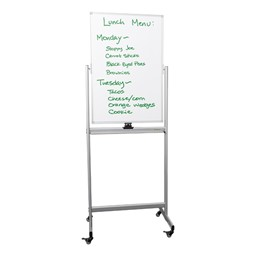 Double-Sided Mobile Magnetic Markerboard (3' W x 2' H)