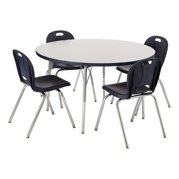 round school table. Round Activity Table \u0026 Structure Series School Chair Set - Gray Top Round School Table