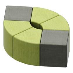 Shapes Series II Vinyl Soft Seating - Cube (gray crosshatch) & wedge (green crosshatch)
