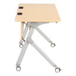 "Profile Series Mobile Flipper Table w/ Modesty Panel & Ganging Brackets (48"" L x 24"" W)"