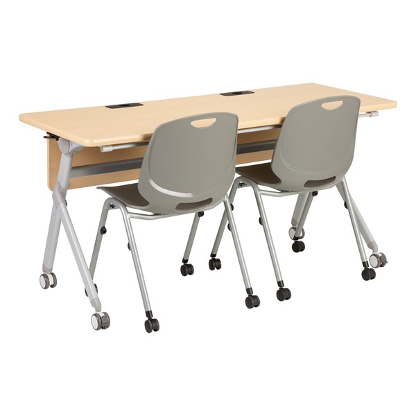 """Profile Series Mobile Flipper Table w/ Modesty Panel & Ganging Brackets (60"""" L x 24"""" W) (Chairs not included.)"""