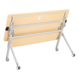 "Profile Series Mobile Flipper Table w/ Modesty Panel & Ganging Brackets (48"" L x 24"" W) - Flipped"
