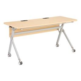 "Profile Series Mobile Flipper Table w/ Modesty Panel & Ganging Brackets (60\"" L x 24\"" W)"