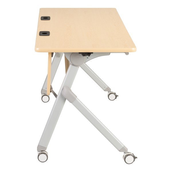 "Profile Series Mobile Flipper Table w/ Modesty Panel & Ganging Brackets (60"" L x 24"" W) - Side"