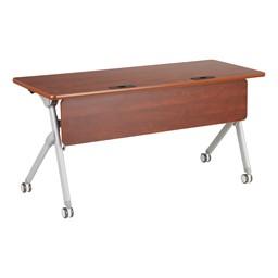 "Profile Series Mobile Flipper Table w/ Modesty Panel & Ganging Brackets (60"" L x 24"" W)"
