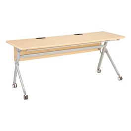 "Profile Series Mobile Flipper Table w/ Modesty Panel & Ganging Brackets (72"" L x 24\"" W)"