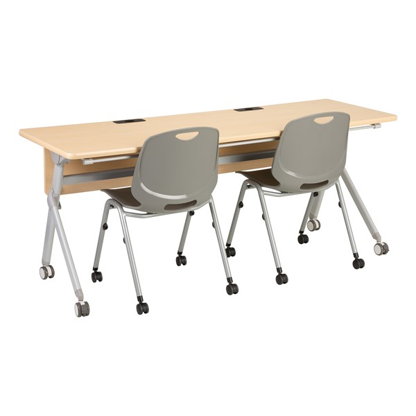 "Profile Series Mobile Flipper Table w/ Modesty Panel & Ganging Brackets (72"" L x 24"" W) (Chairs not included.)"