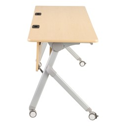 "Profile Series Mobile Flipper Table w/ Modesty Panel & Ganging Brackets (72"" L x 24"" W) - Side"