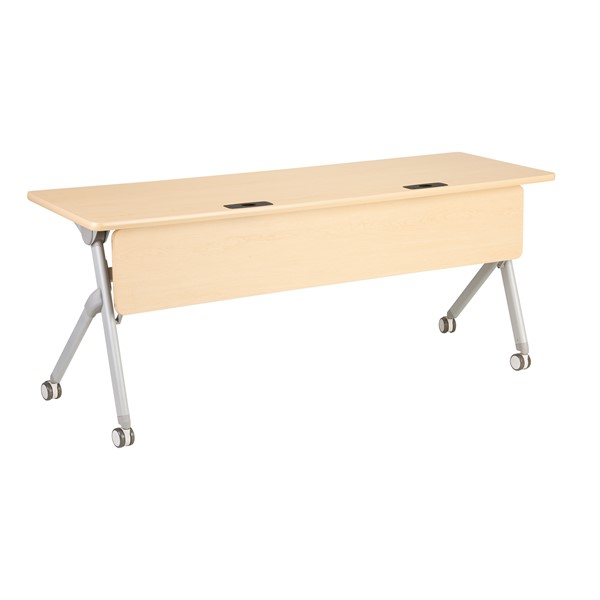 "Profile Series Mobile Flipper Table w/ Modesty Panel & Ganging Brackets (72"" L x 24"" W)"