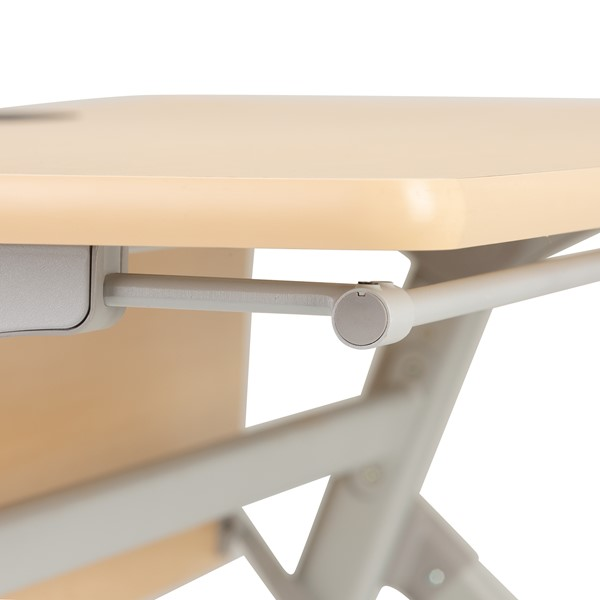 "Profile Series Mobile Flipper Table w/ Modesty Panel & Ganging Brackets (72"" L x 24"" W) - Frame"