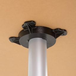 Crescent Pedestal Stool-Height Designer Café Table w/ Round Base - Frame
