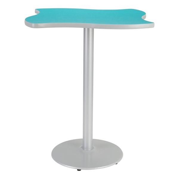 Square Wave Designer Café Table w/ Round Base - Ocean