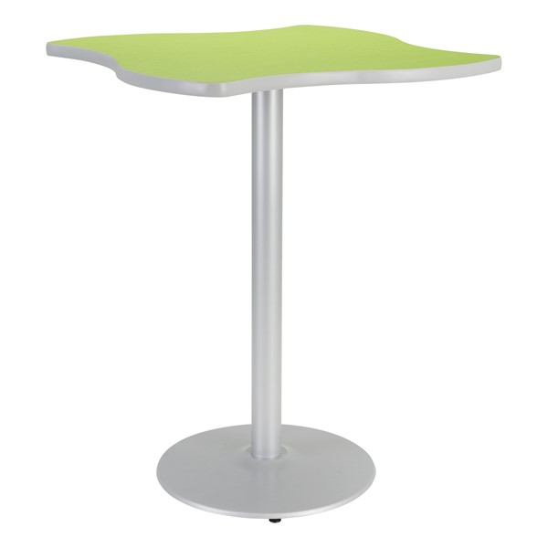 Square Wave Designer Café Table w/ Round Base - Island