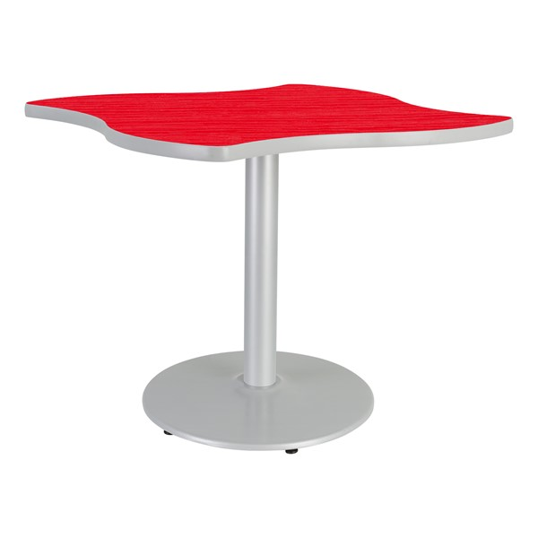 Designer Square Wave Café Table w/ Round Base - Hollyberry