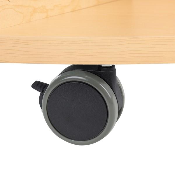 "Spool Table w/ Bins (32"" diameter x 24"" H) - Caster"