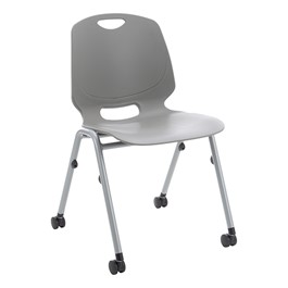 Academic Mobile Stack Chair - Graphite