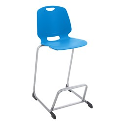 Academic Media Stack Chair - Brilliant Blue