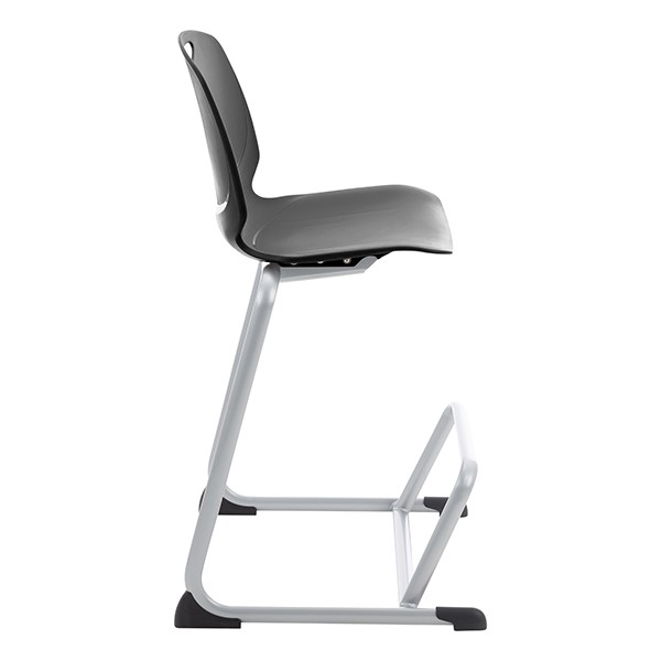 Academic Media Stack Chair - Black - Side