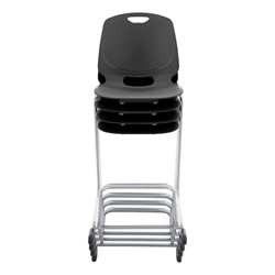 Academic Media Stack Chair - Black - Stacked