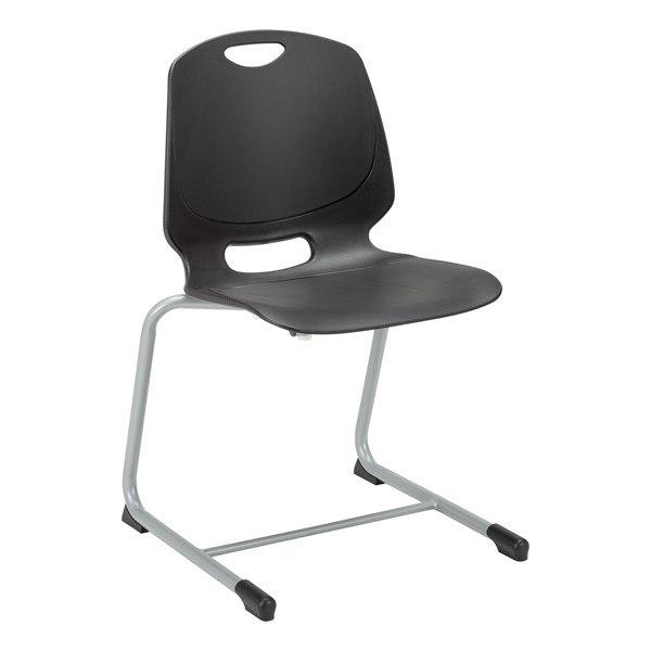 Academic Cantilever Stacking Chair - Black