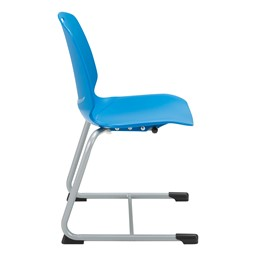 Academic Cantilever Stacking Chair - Brilliant Blue