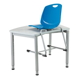 Academic Cantilever Stacking Chair on a desk