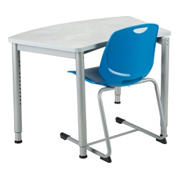Academic Cantilever Stacking Chair with a desk