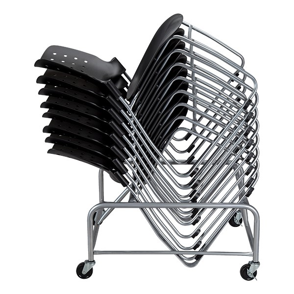 Ballard Series Stack Chair Dolly - Shown w/ chairs