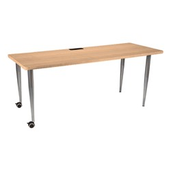 Mobile Training Table w/ Electrical & USB Option - Maple