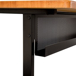 """Adjustable-Height Computer Desk w/ Electrical  & USB Option (24"""" W x 48"""" L) - Modesty panel"""