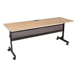 Merit Series III Flip Top Training Table - Rectangle - Maple