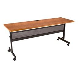 Merit Series III Flip Top Training Table - Rectangle - Cherry