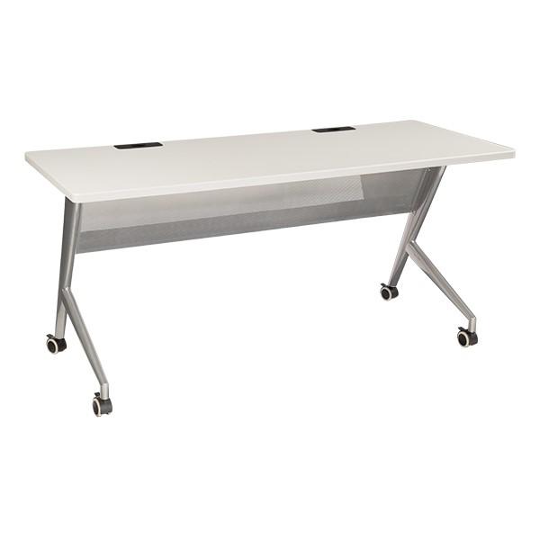 "Heavy-Duty Mobile Computer Table w/ Power & USB Option (24"" W x 60"" L) - Gray"