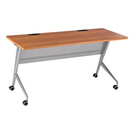 "Heavy-Duty Flipper Table (24"" W x 60\"" L) - Cherry"
