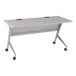 Heavy-Duty Flipper Table & Stack Chair Bundle  - Heavy-Duty Flipper Table - Gray