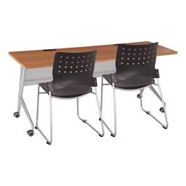 """Heavy-Duty Flipper Table & Stack Chair Bundle (24\"""" W x 72\"""" L)"""