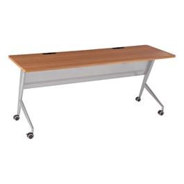 "Heavy-Duty Flipper Table (24\"" W x 72\"" L) - Cherry"