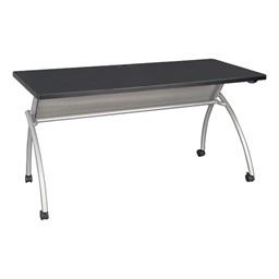 """Wishbone Leg Flipper Table (24"""" W x 60"""" L) - Black"""