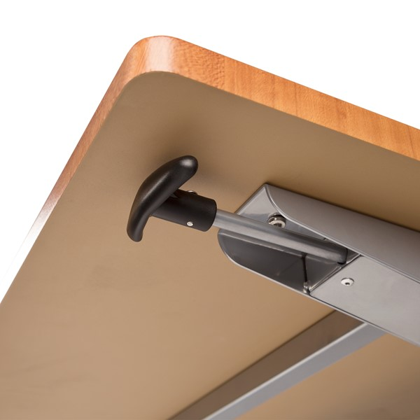 """Wishbone Leg Flipper Table (24"""" W x 60"""" L) - Handle"""