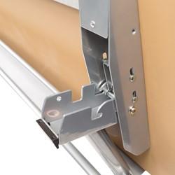 "Wishbone Leg Flipper Table & Nesting Chair Bundle (24"" W x 72"" L) - Wishbone Leg Flipper Table - Hinge"