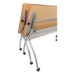 "Wishbone Leg Flipper Table & Nesting Chair Bundle (24"" W x 72"" L) - Wishbone Leg Flipper Table - Storage"