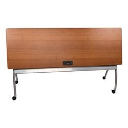 "Wishbone Leg Flipper Table & Nesting Chair Bundle (24"" W x 72"" L) - Wishbone Leg Flipper Table - Flipped"