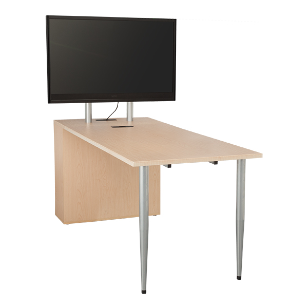 Media Table W/ TV Mount U0026 Storage Cabinet