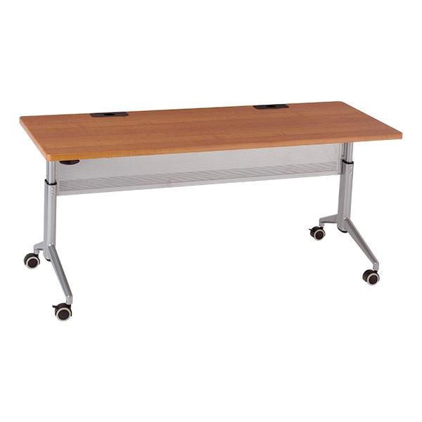 "Heavy-Duty Adjustable-Height Flipper Table (24"" W x 60"" L) - Cherry"