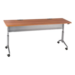 "Heavy-Duty Adjustable-Height Flipper Table (24"" W x 72"" L) - Cherry"