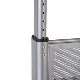 "Heavy-Duty Adjustable-Height Flipper Table (24"" W x 72"" L) - Adjustable legs"