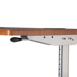 """Heavy-Duty Adjustable-Height Flipper Table (24"""" W x 72"""" L) - Release latch"""