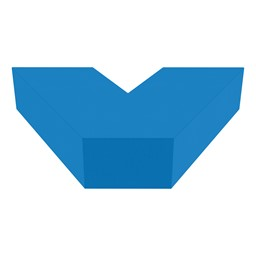 "Shapes Series II Vinyl Soft Seating V-Shape (12"" H) - French Blue"